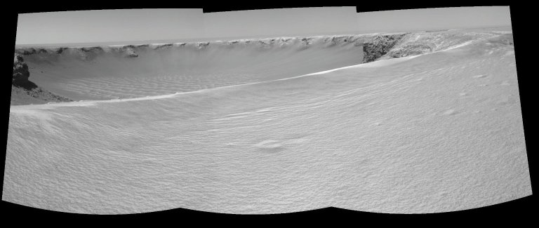 On the Rim of 'Victoria Crater' (Stereo)
