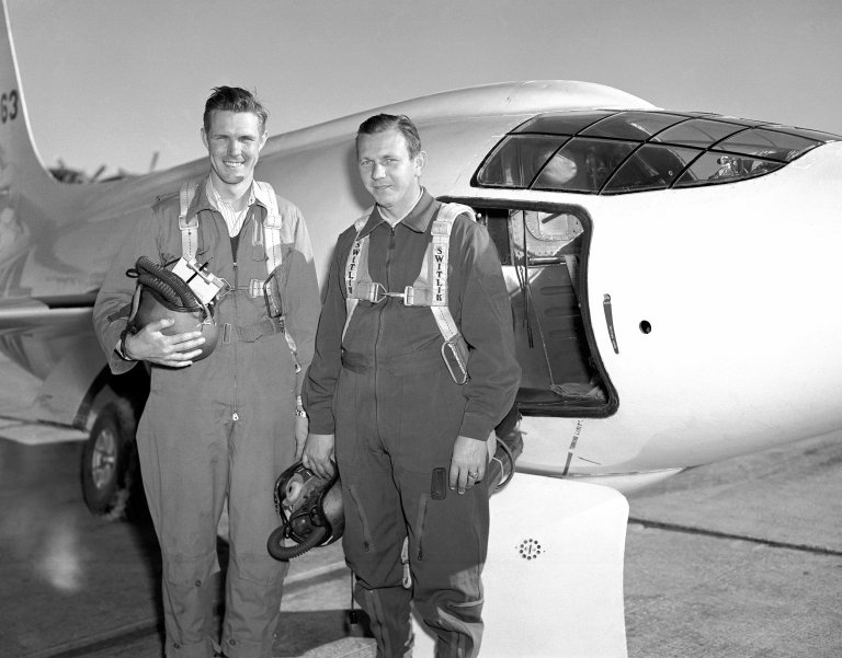 X-1-2 with Pilots Robert Champine Herb Hoover