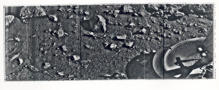 First Mars Surface Photo