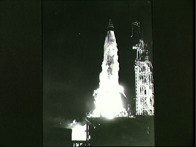 Big Joe launch vehicle after launching at Cape Canaveral