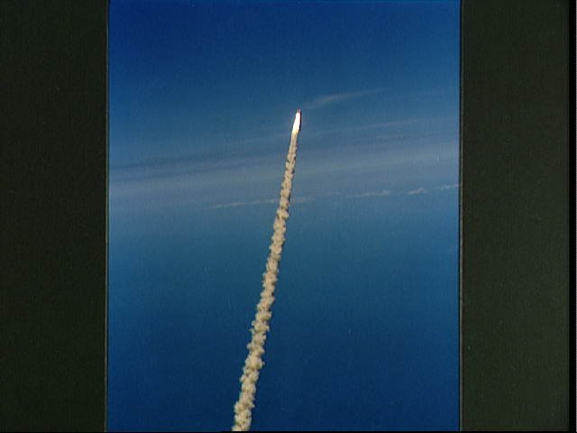 Views of the launch of Space Shuttle Challenger for the STS-6 mission