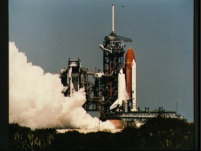 View of the flight readiness firing (FRF) of Discovery 41-D mission