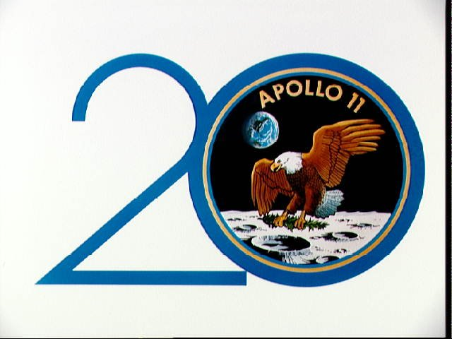 Logo for the 20th Anniversary of the Apollo 11 mission