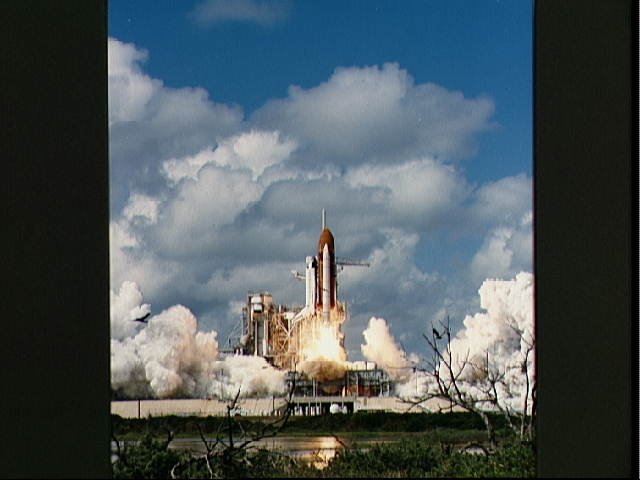 STS-26 Discovery, Orbiter Vehicle (OV) 103, lifts off from KSC LC pad 39B