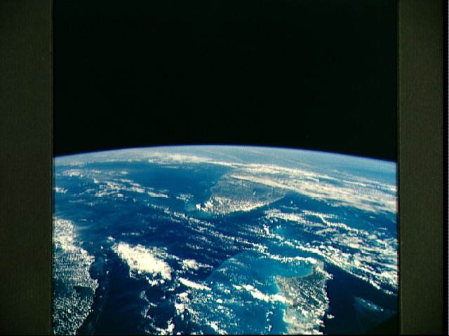 Florida and the Bahamas as seen from STS-58