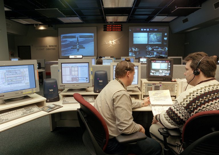 The Payload Operations Center (POC) at the Marshall Space Flight Center