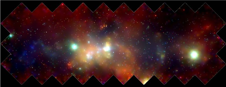 X-Ray Mosaic of Milky Way Taken by the Chandra X-Ray Observatory