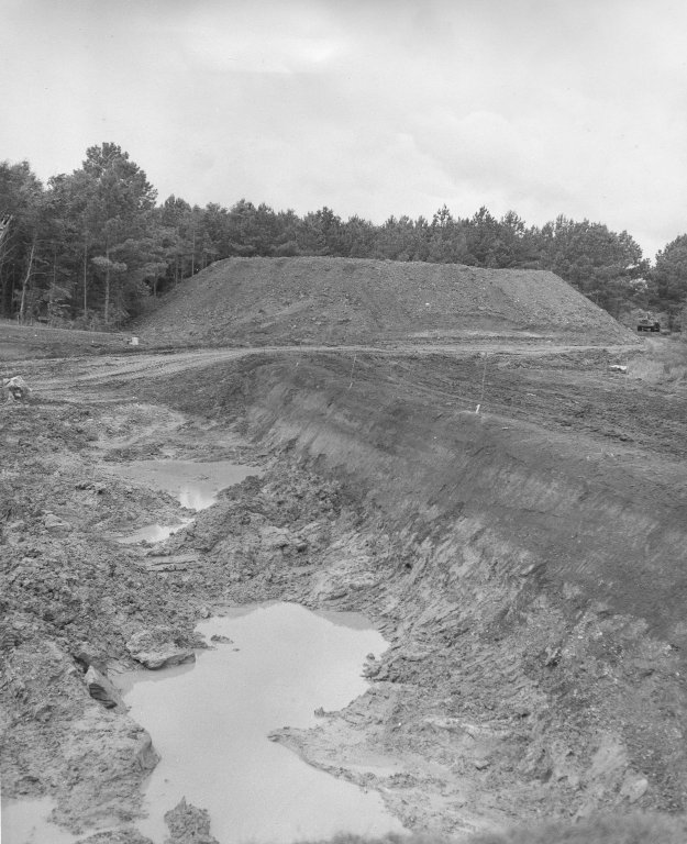 Construction Progress of the S-IC Test Stand-Excavation