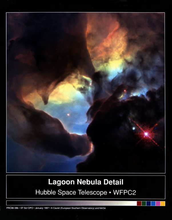 Lagoon Nebula Details From the Hubble Space Telescope (HST)