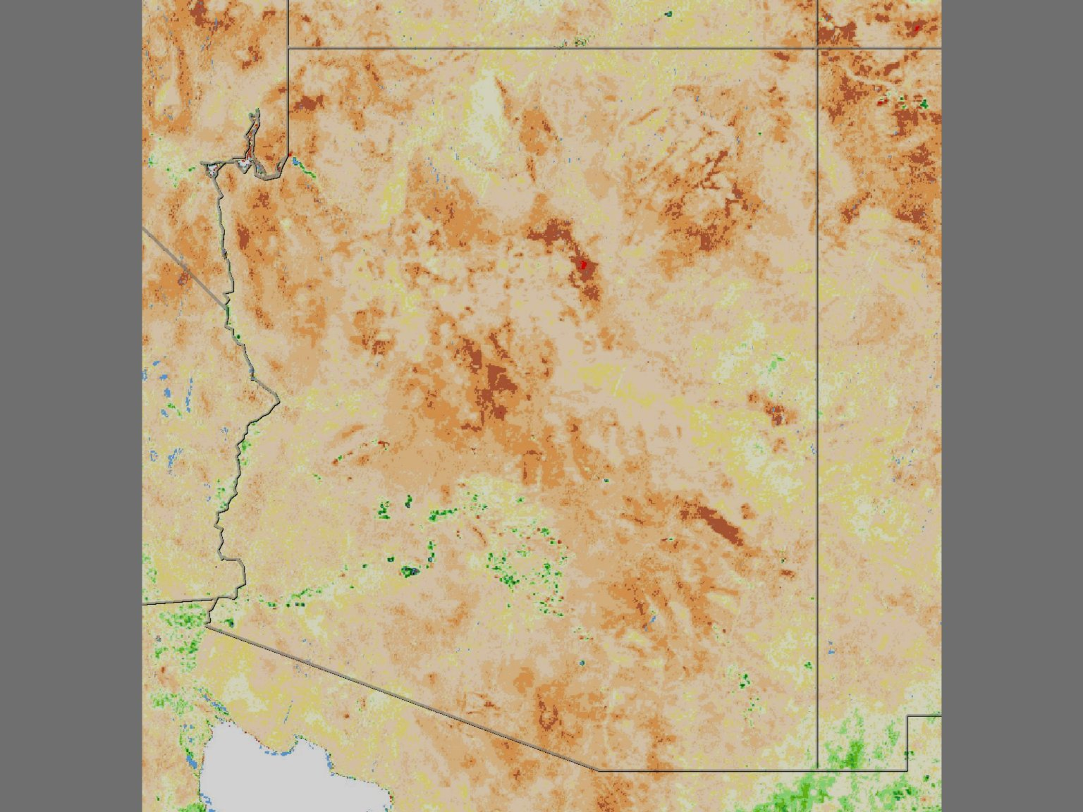 Drought over Western United States (Stills)