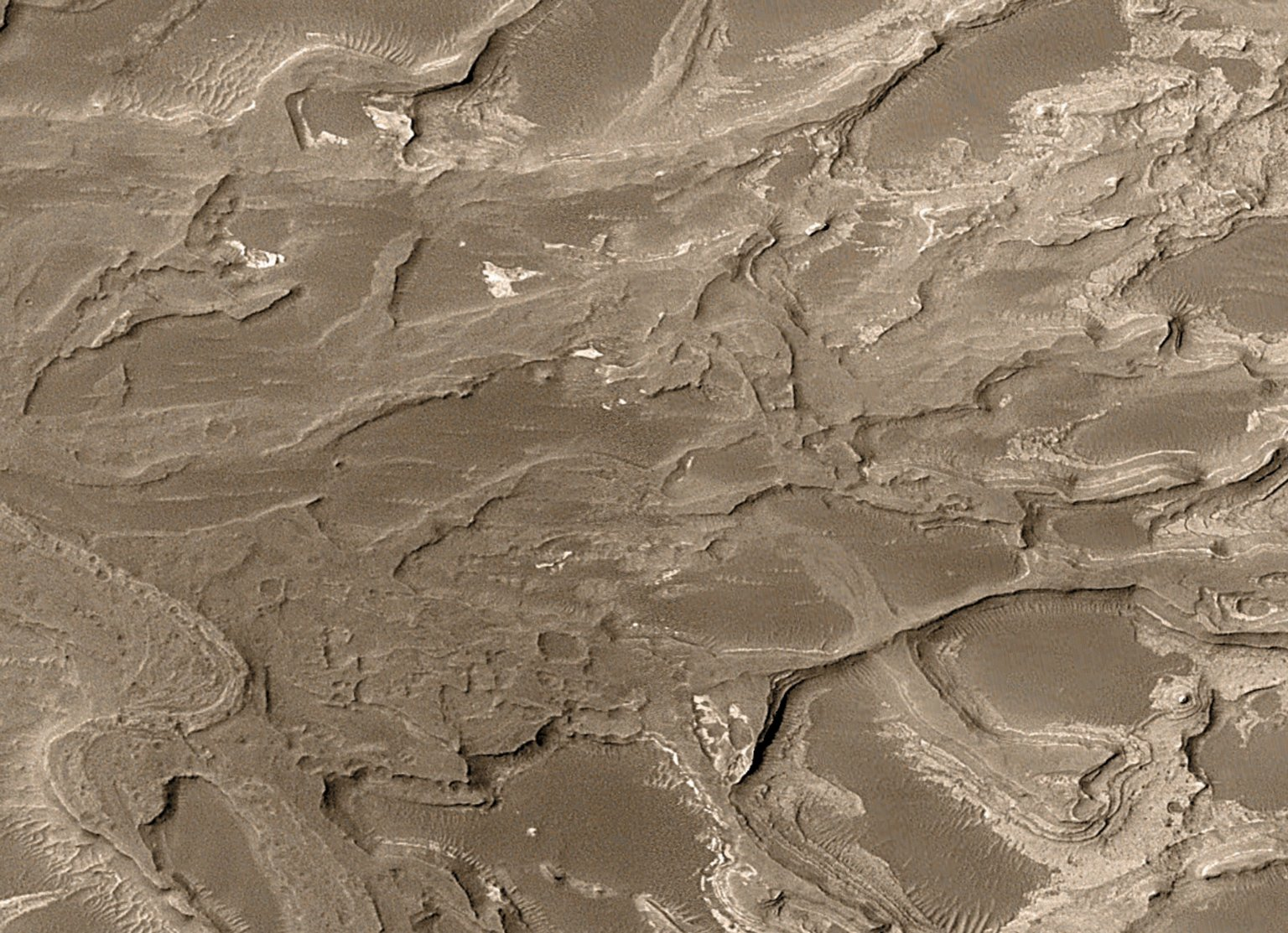 Great Zoom into Distributary Fan, Mars