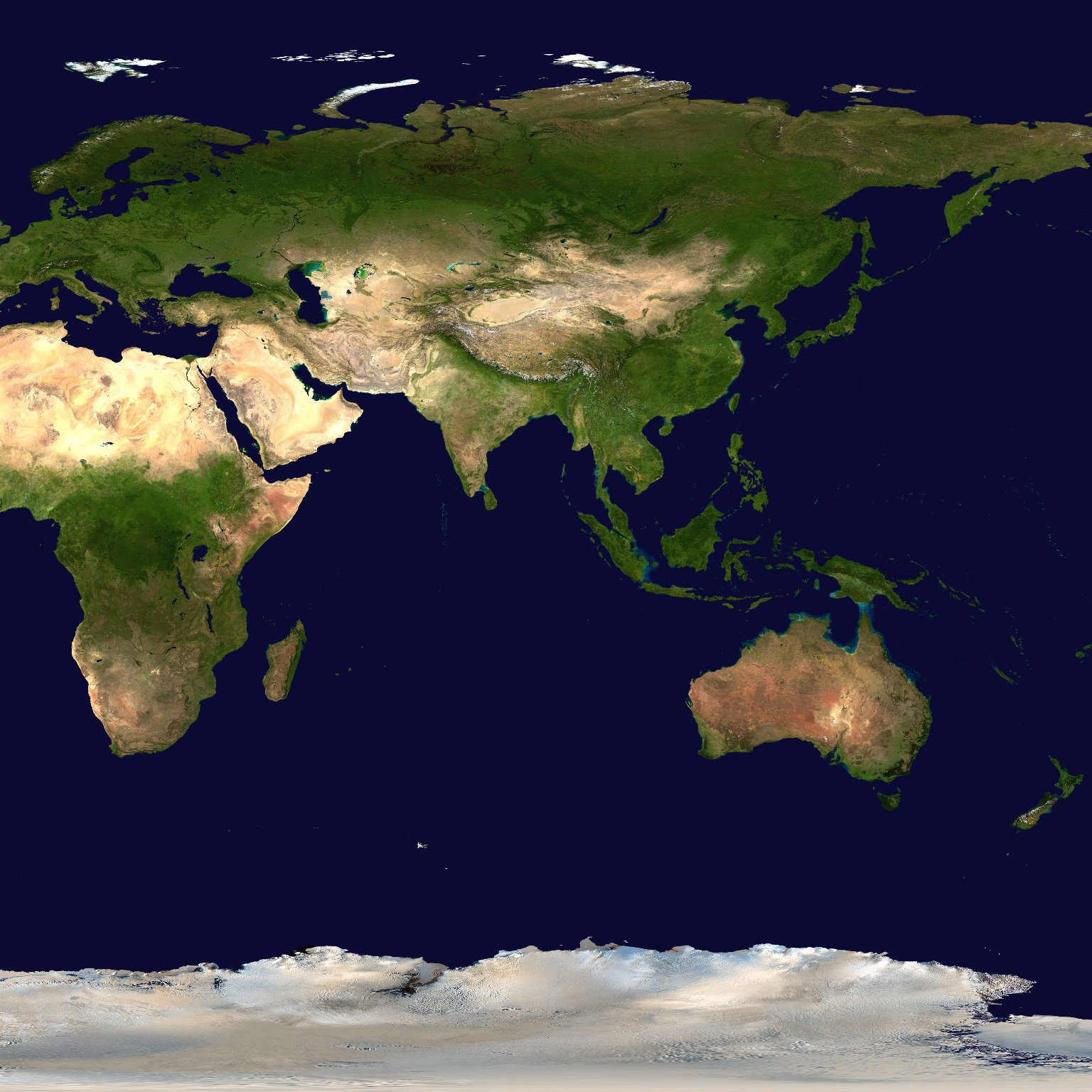 Blue Marble - A Seamless Image Mosaic of the Earth (WMS)