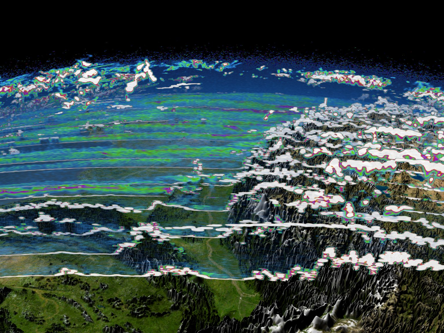 ICESat Aerosols and Clouds over India