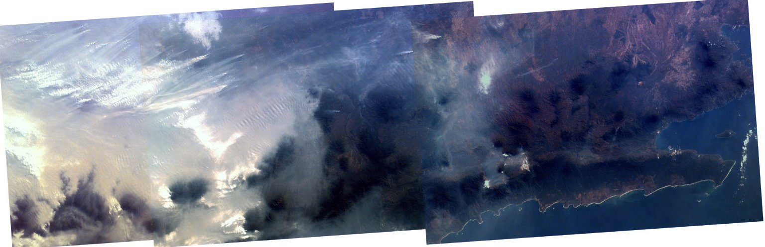 Mosaic image of fires in Indonesia Kidsat image #00215701_img_map