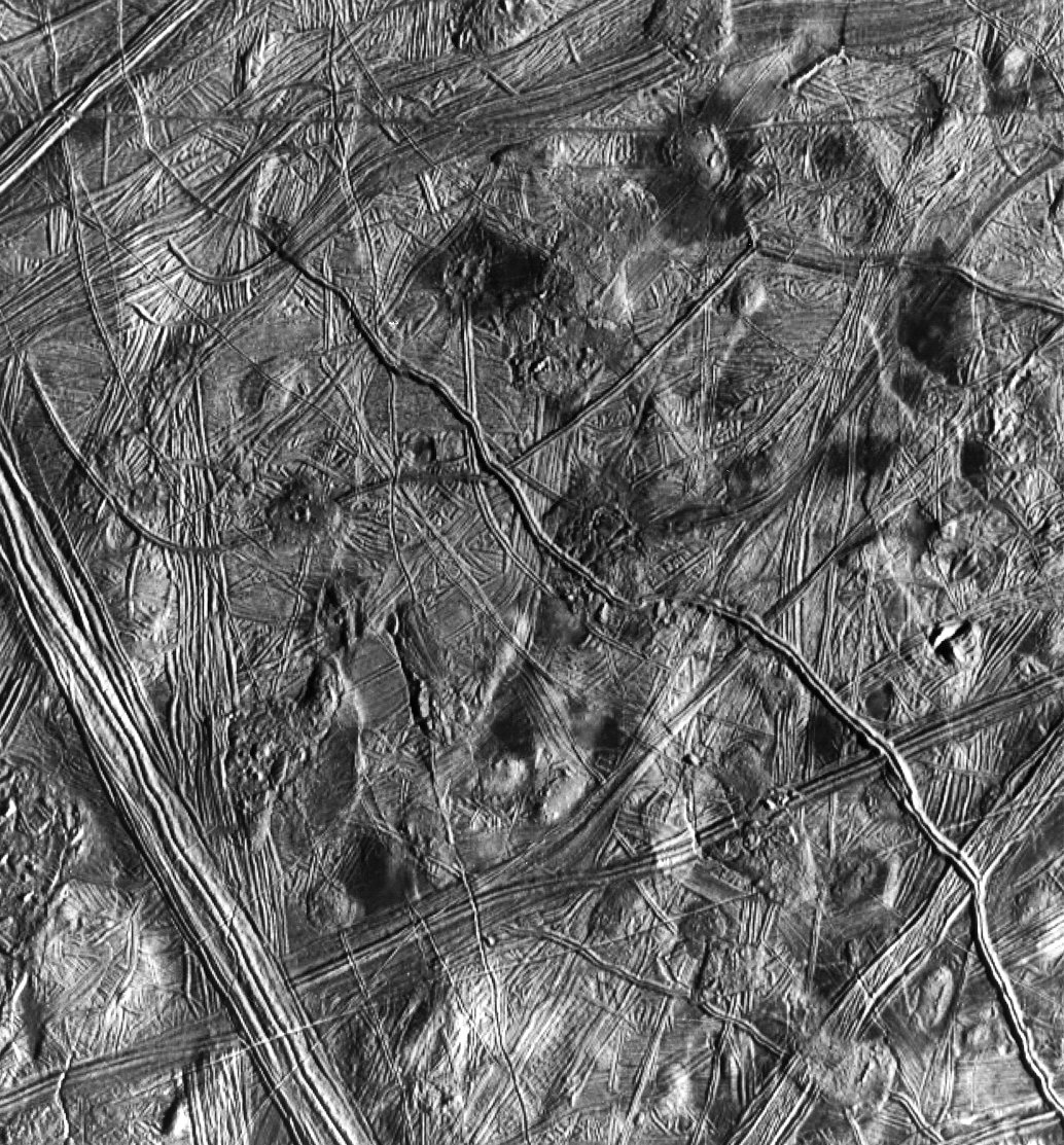 Europa Ridges, Hills and Domes