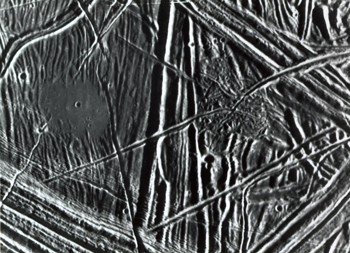 Close-up of Europa's Surface