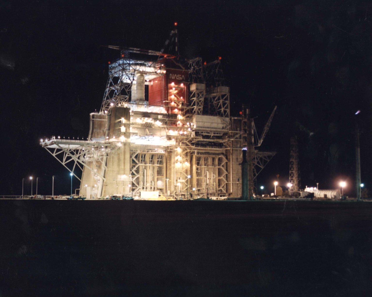 B-1 Test Stand at Night