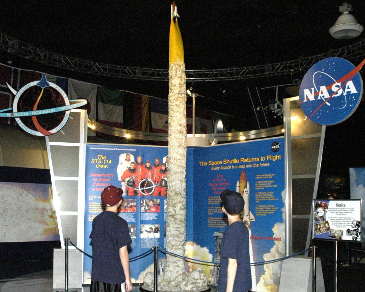 Visitors learn about Return to Flight at StenniSphere