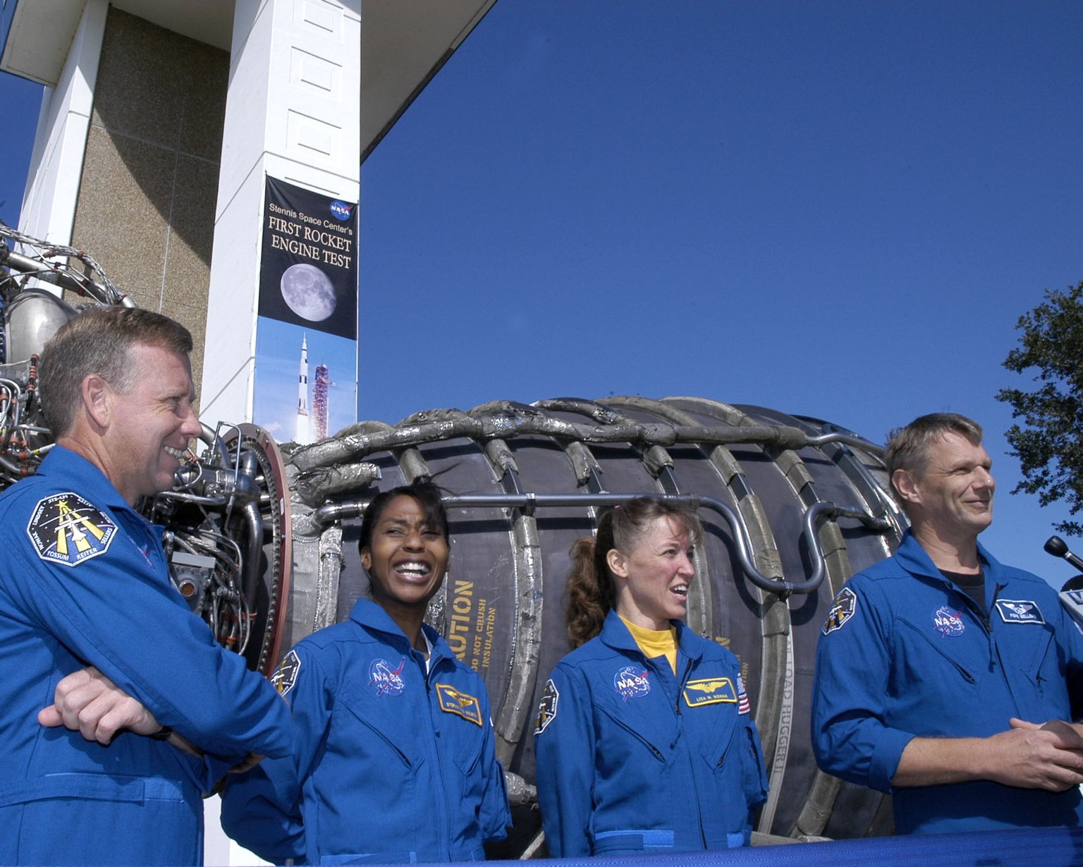STS-121 crew visits SSC
