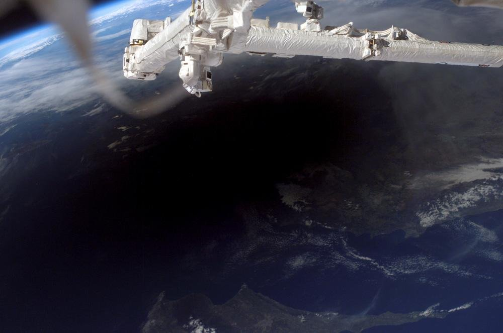 Eclipse View from the ISS