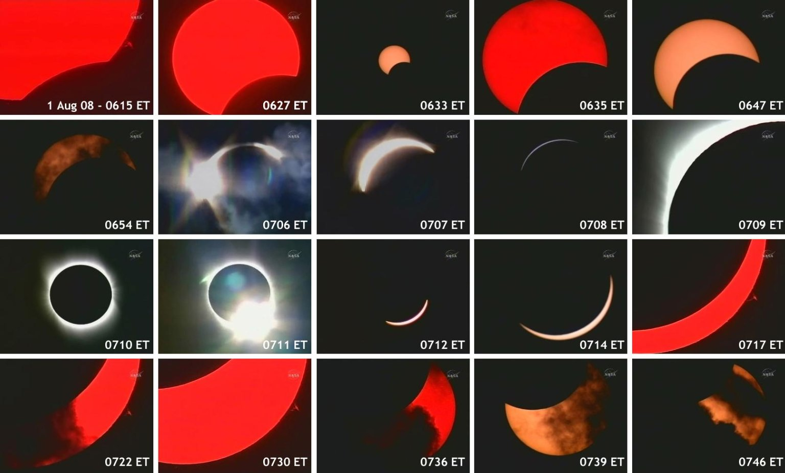 Aug. 1 Solar Eclipse Image Sequence