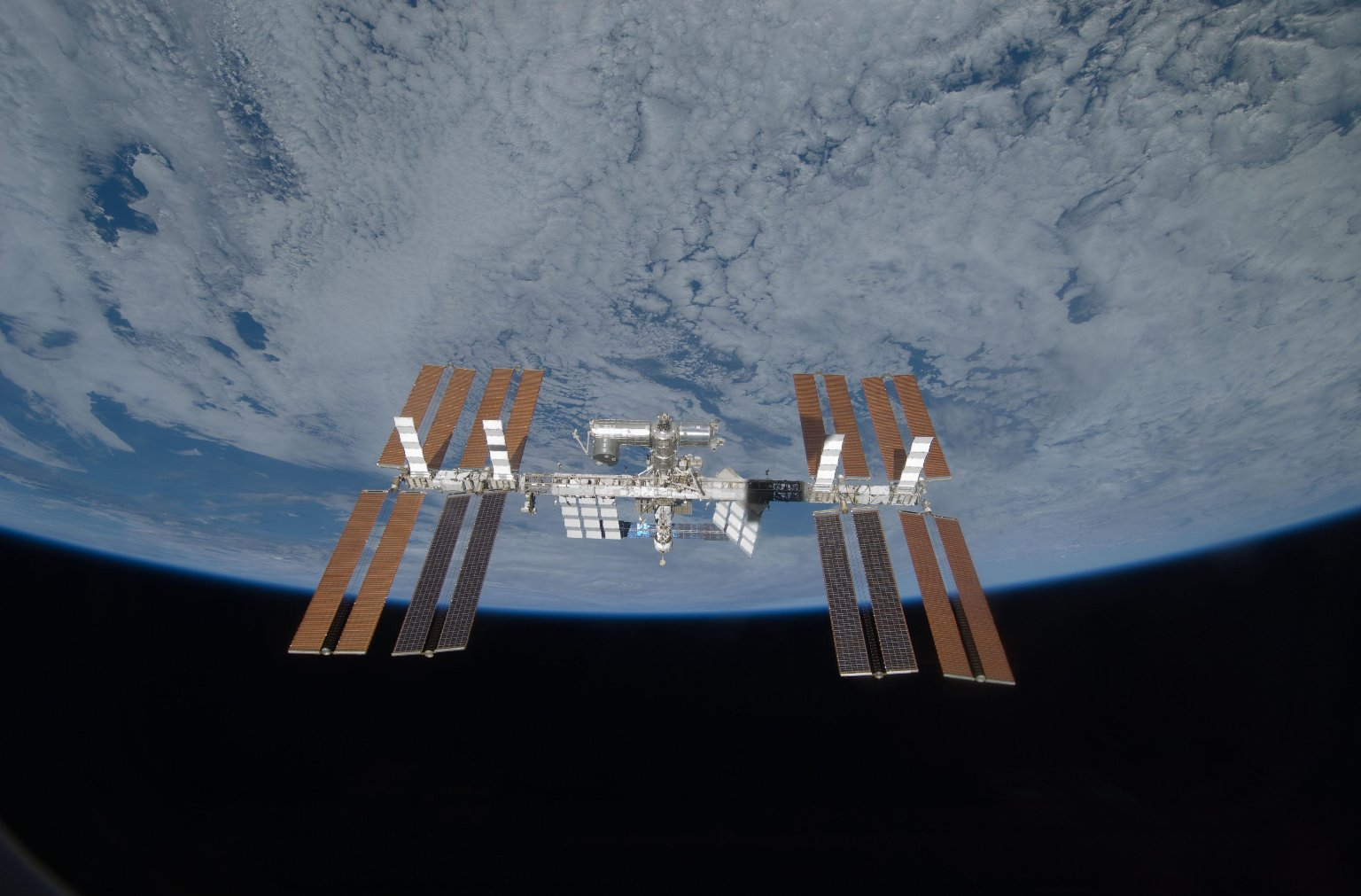 Discovery Bids Farewell to Station