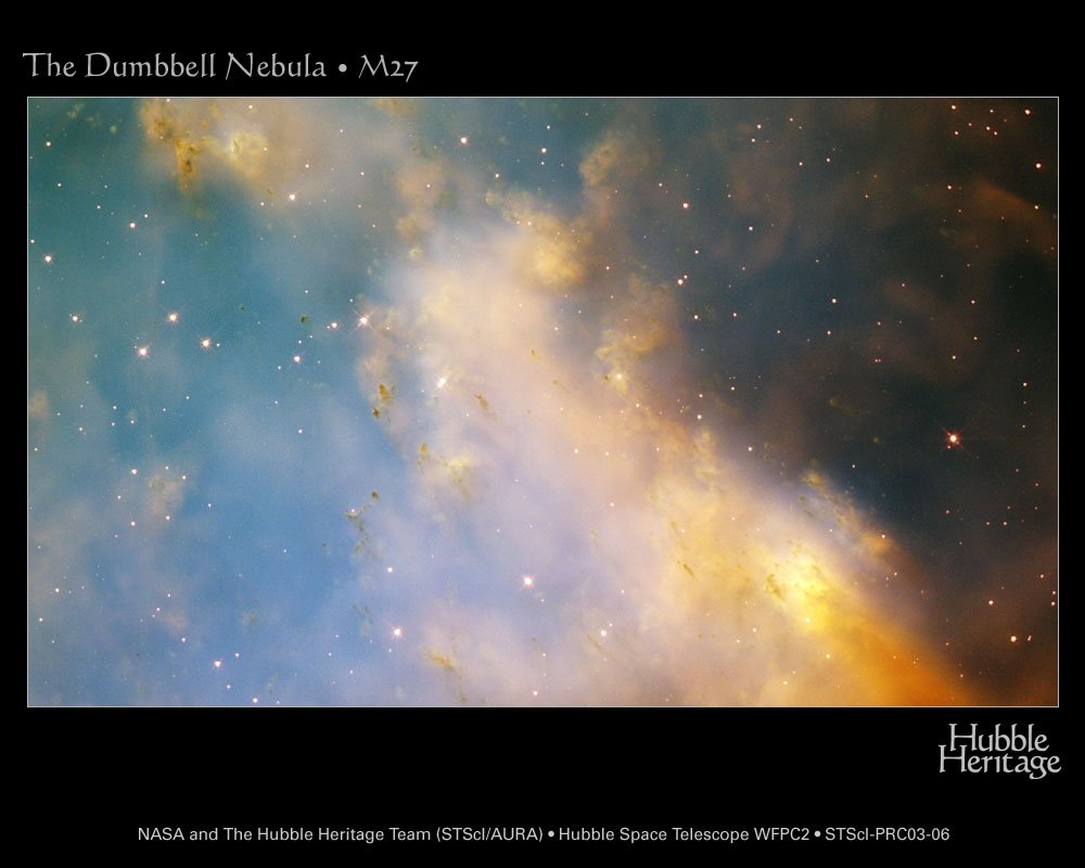 Dumbbell Nebula Close-Up from Hubble