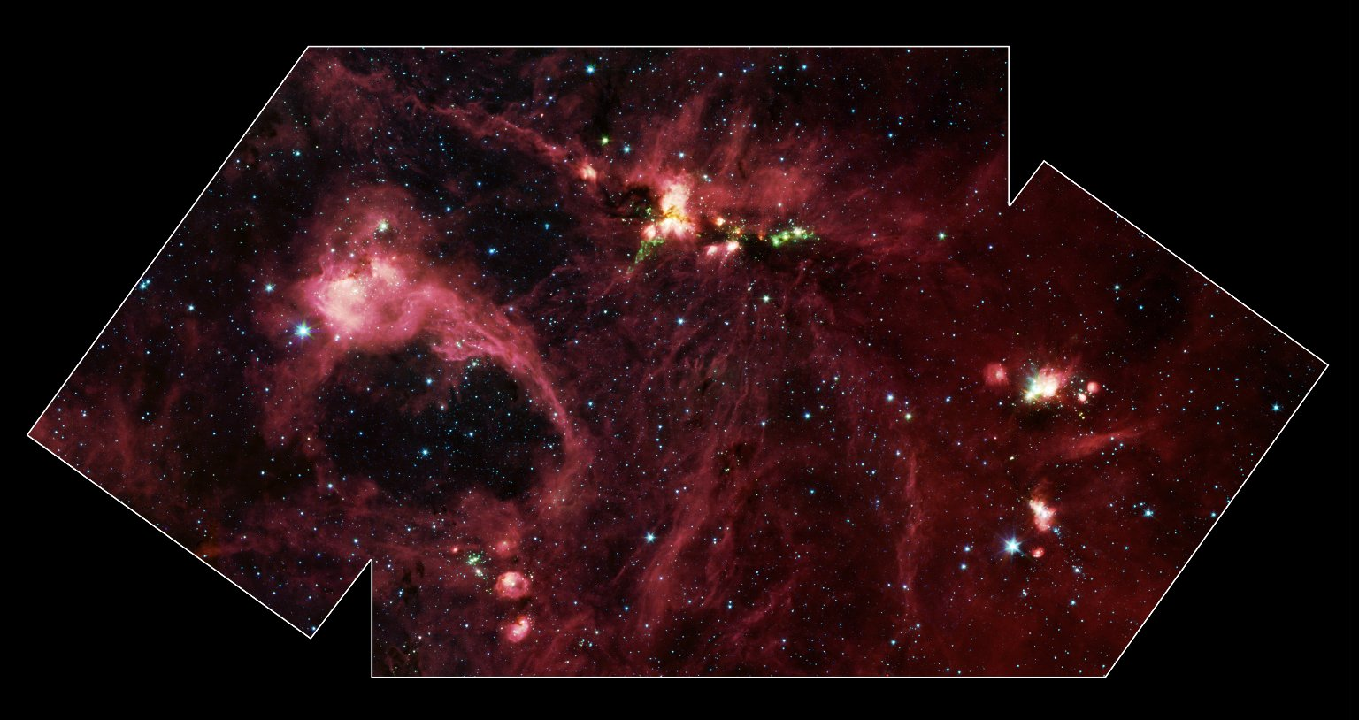 Massive Star Forming Region DR21 in Infrared