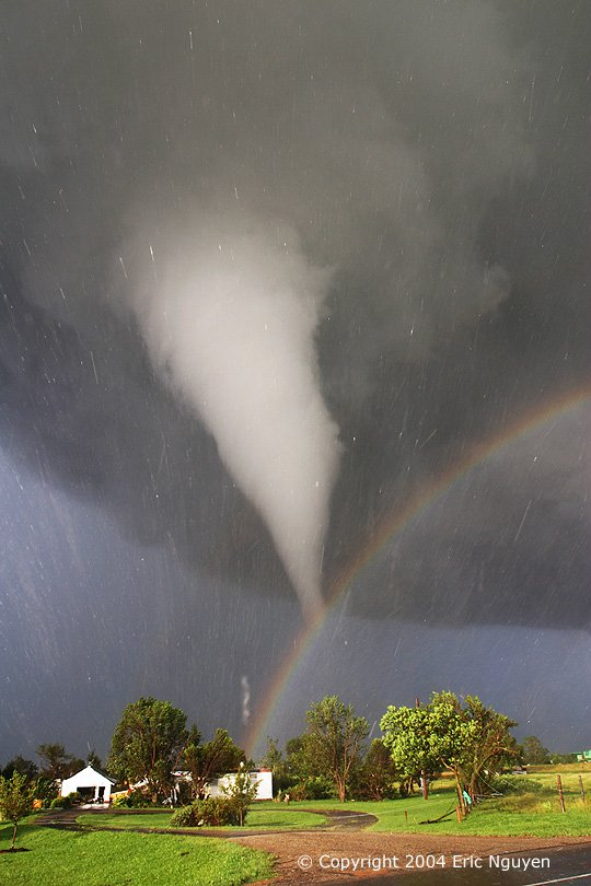 Tornado and Rainbow Over Kansas