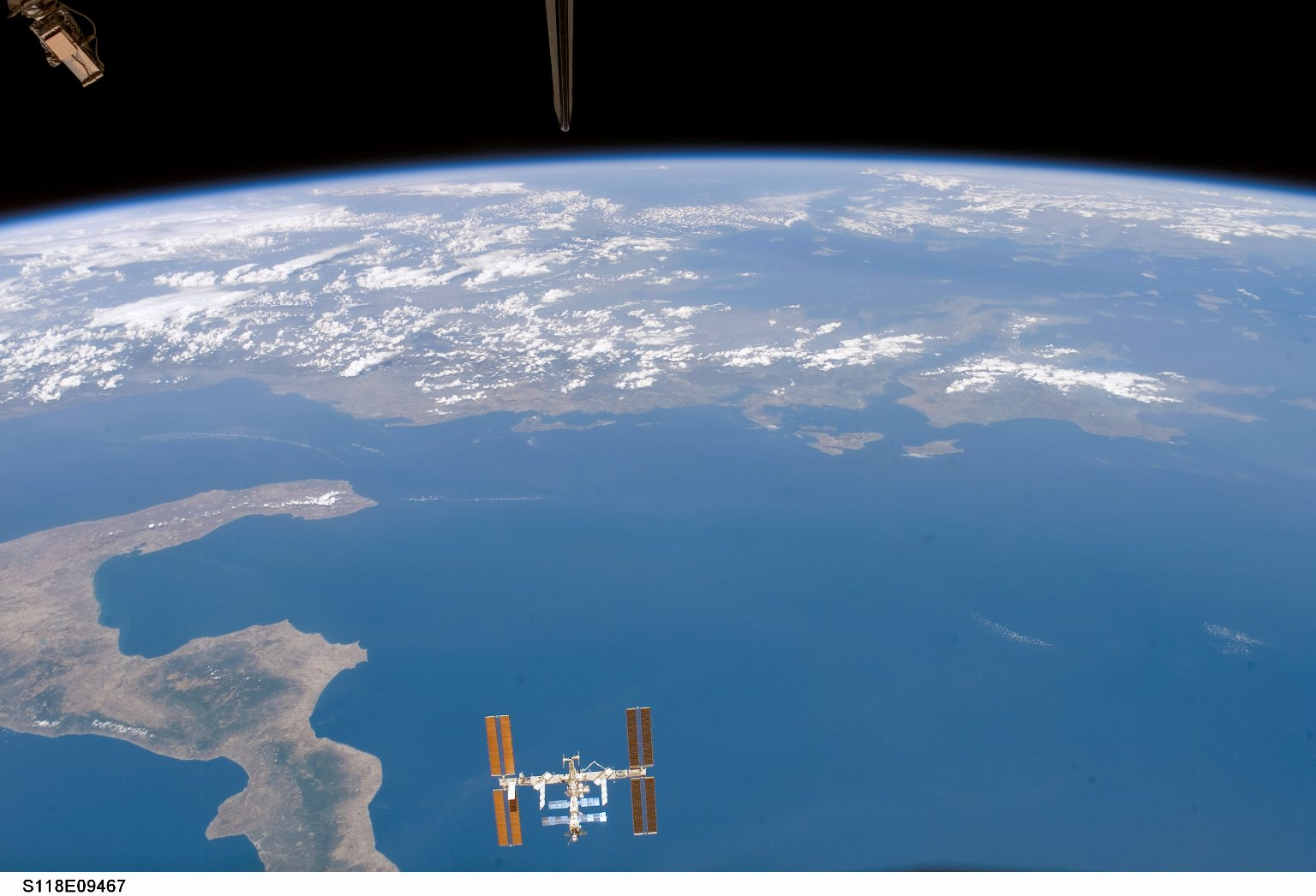 Space Station Over the Ionian Sea