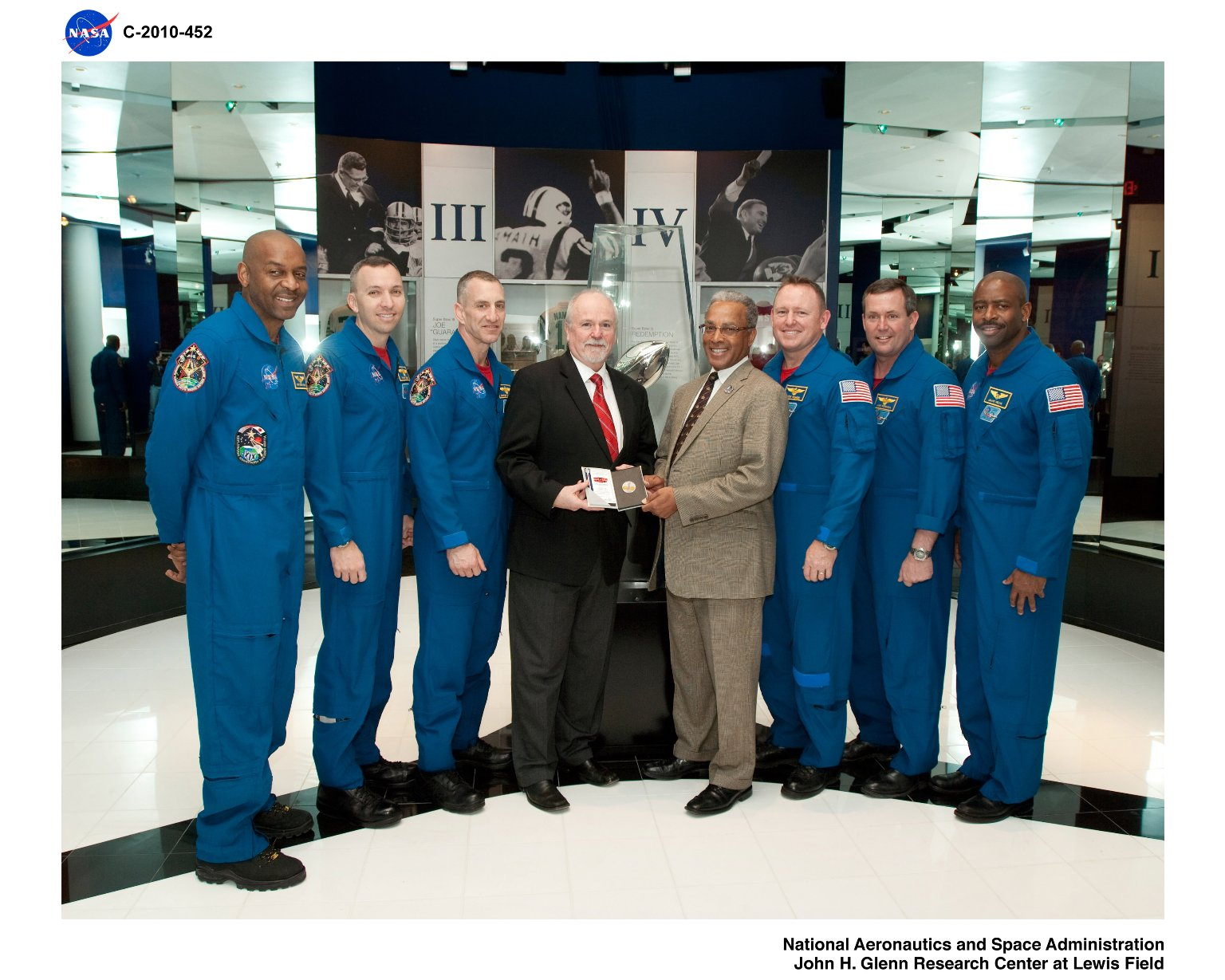 Super Bowl XLIV Game Coin which flew on STS-127