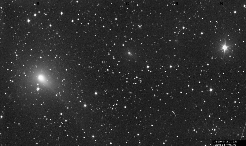 Hubble Provides Spectacular Detail of a Comet's Breakup