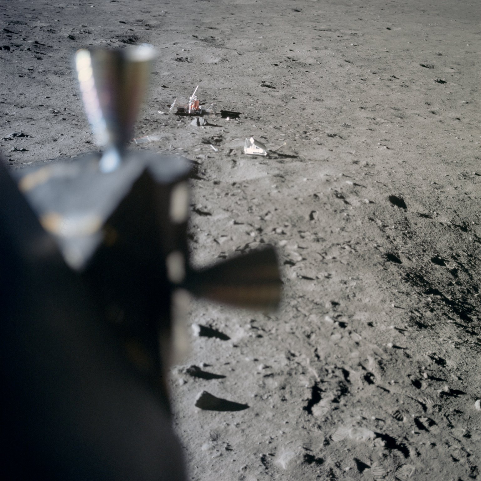 Apollo 11 Mission image - Lunar surface at Tranquility Base
