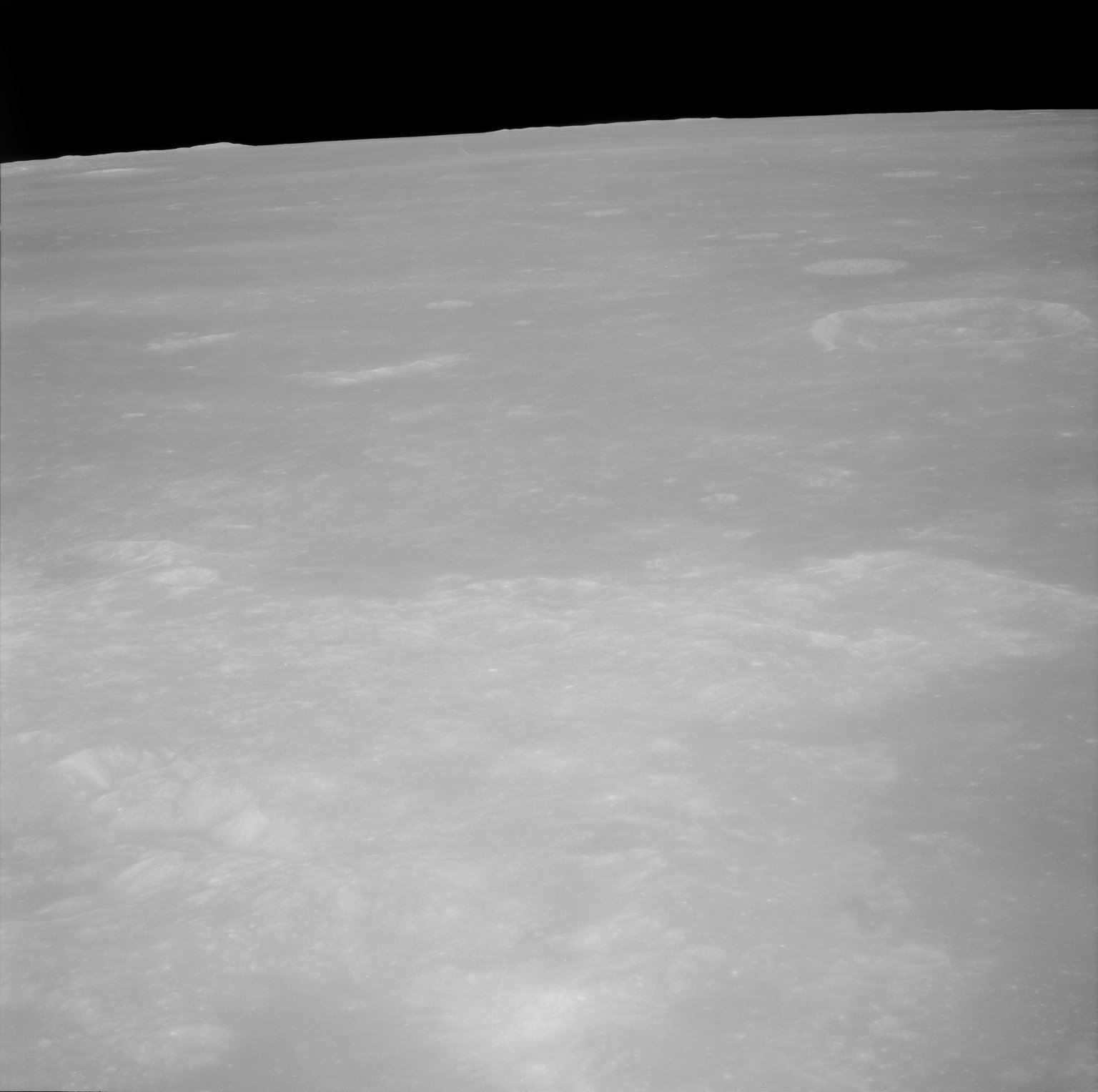 Apollo 11 Mission image - Partial TO 80 and the Maskelyne A Crater