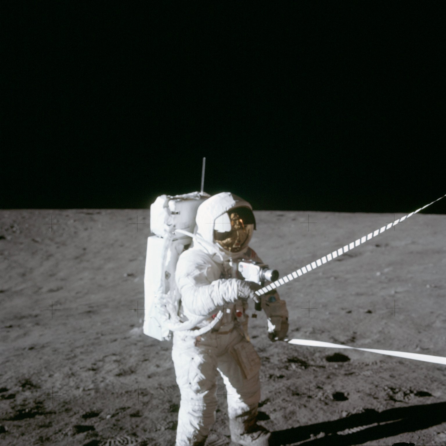Apollo 12 Mission image - CDR with lunar equipment conveyer