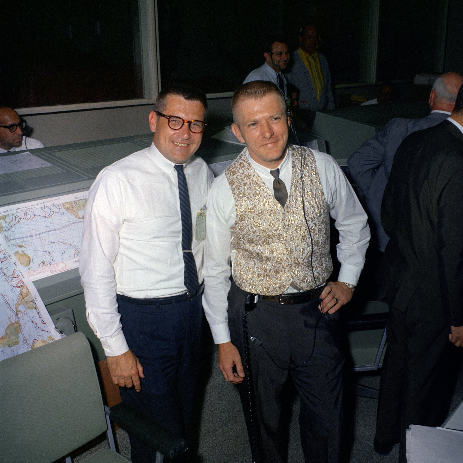 Mission Control Center during the Gemini 9A recovery operations