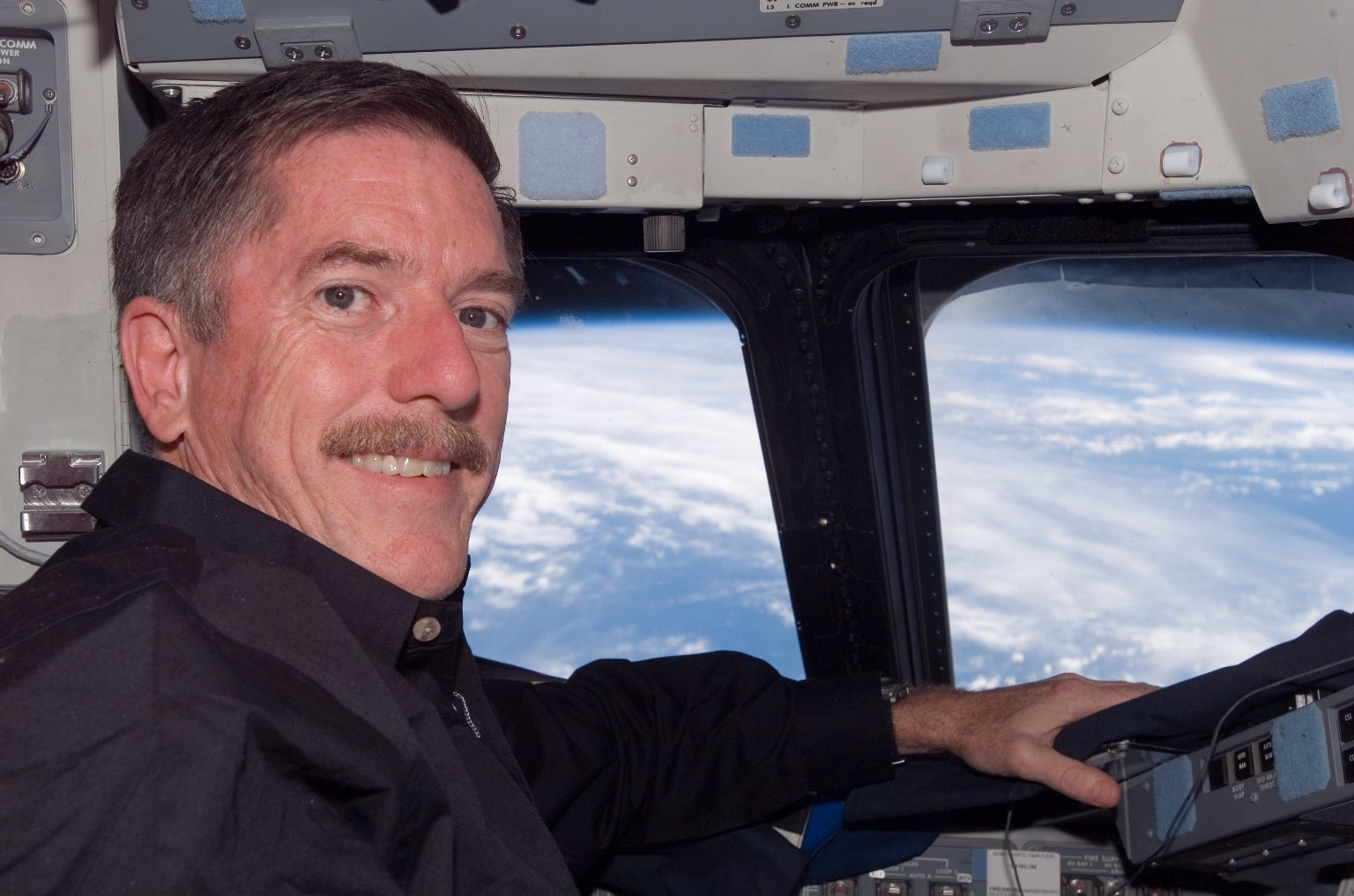 Reilly on the FD on STS-117 Space Shuttle Atlantis