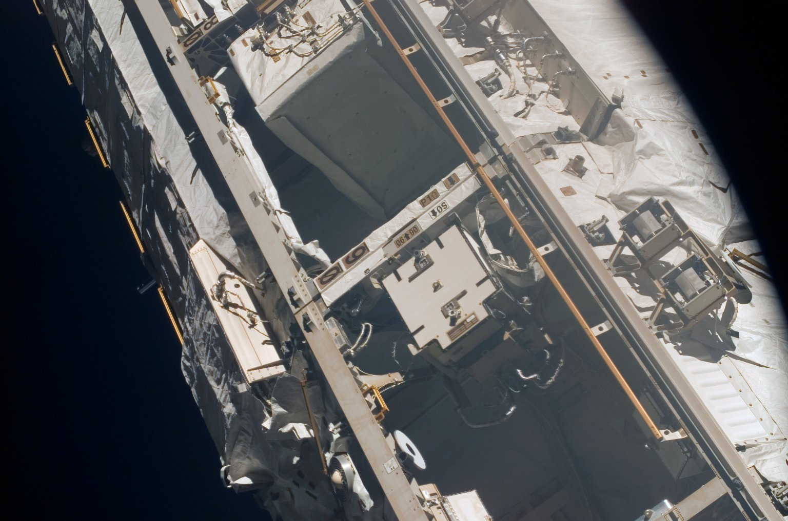 View of Bays 4 and 6 on the P1 Truss taken during an ISS survey on STS-121 / Expedition 13 joint operations