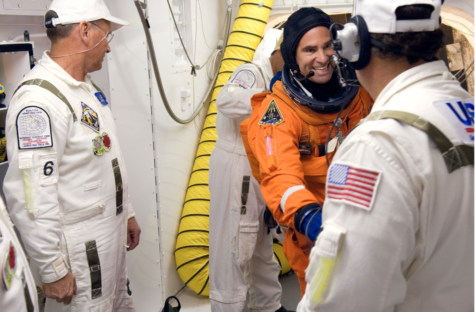STS-124 crew in White Room