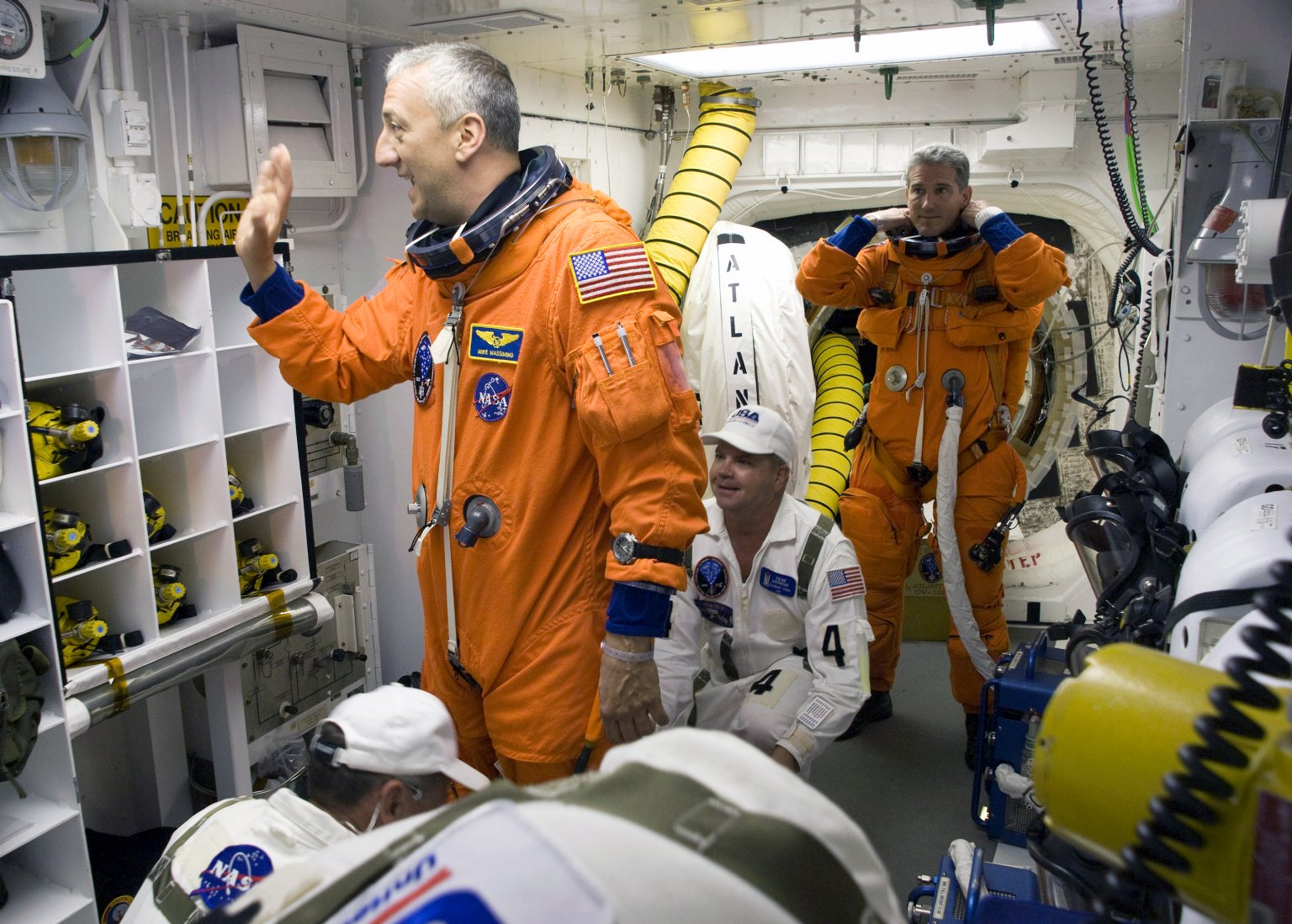 STS-125 Crew prepares to board the Space Shuttle Atlantis