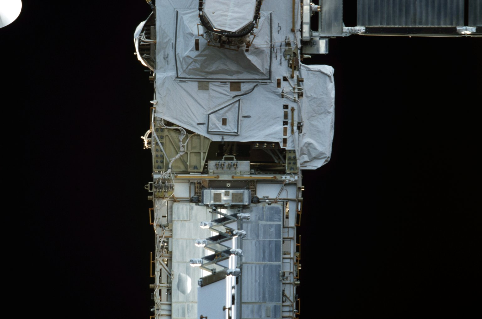 View of the EAS and EETCS Radiator for the P6 Truss taken during STS-110