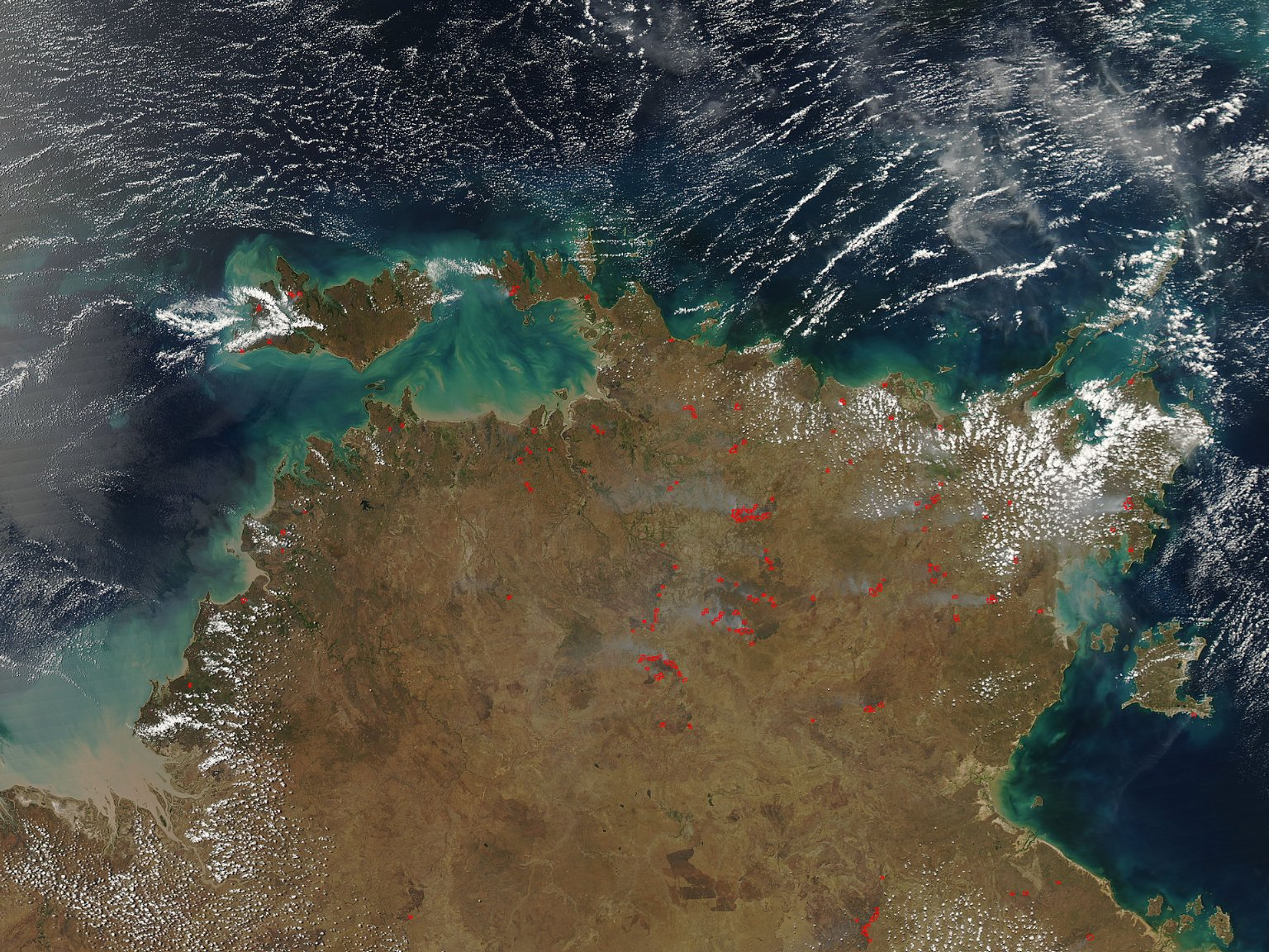 Late Dry Season Fires in Northern Territory
