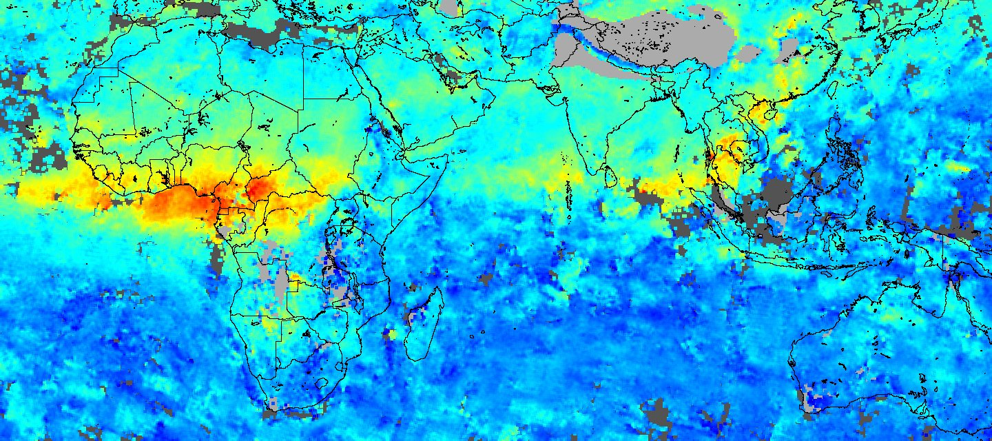 Carbon Monoxide in Africa and Asia