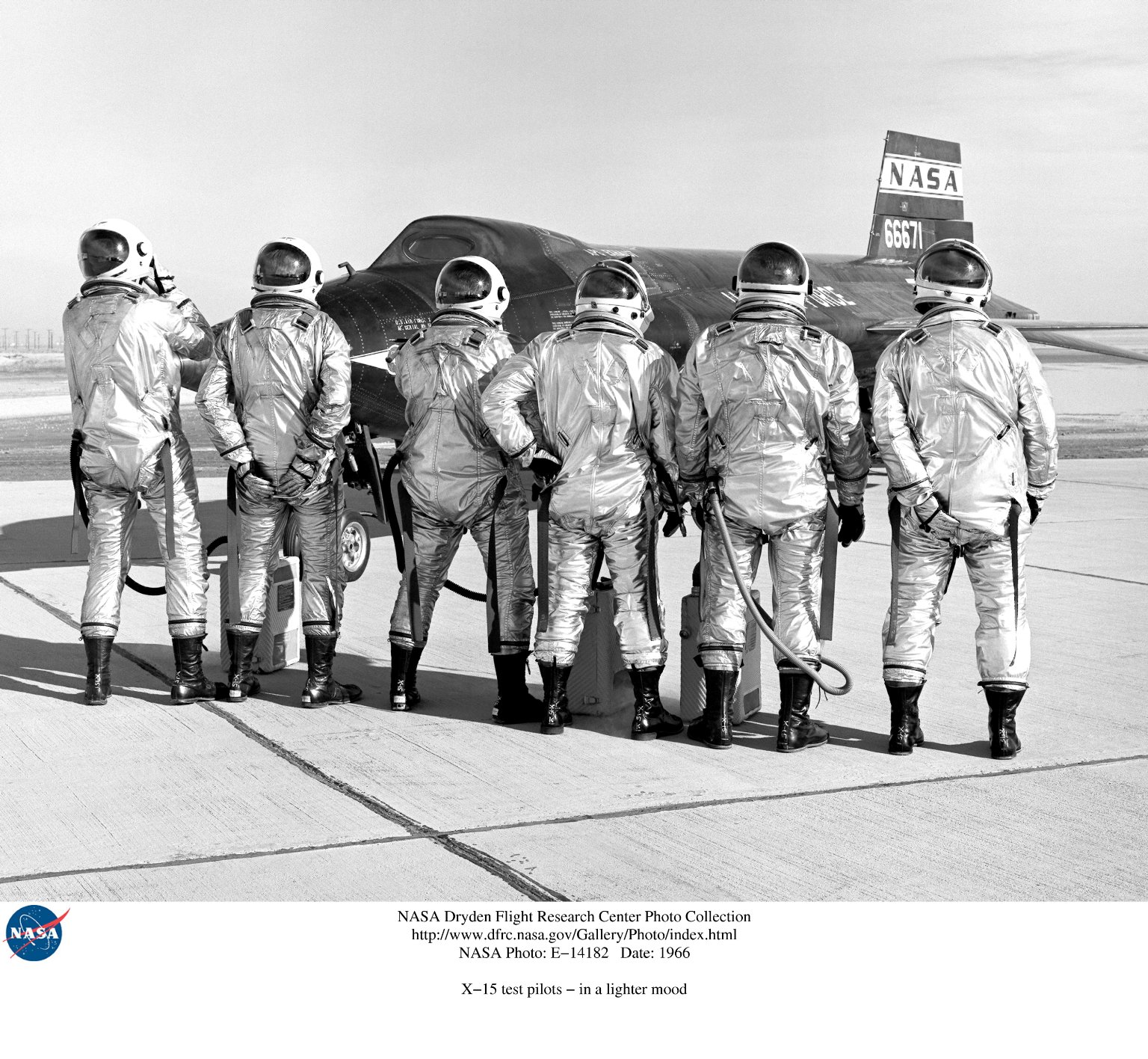 X-15 test pilots - in a lighter mood