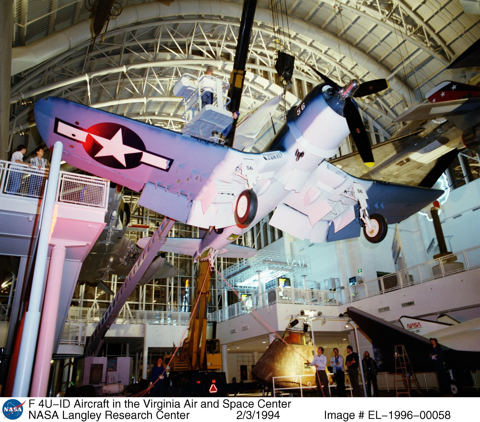 F 4U-ID Aircraft in the Virginia Air and Space Center