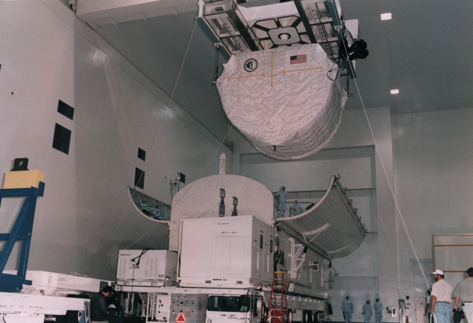 SPACEHAB installed in canister