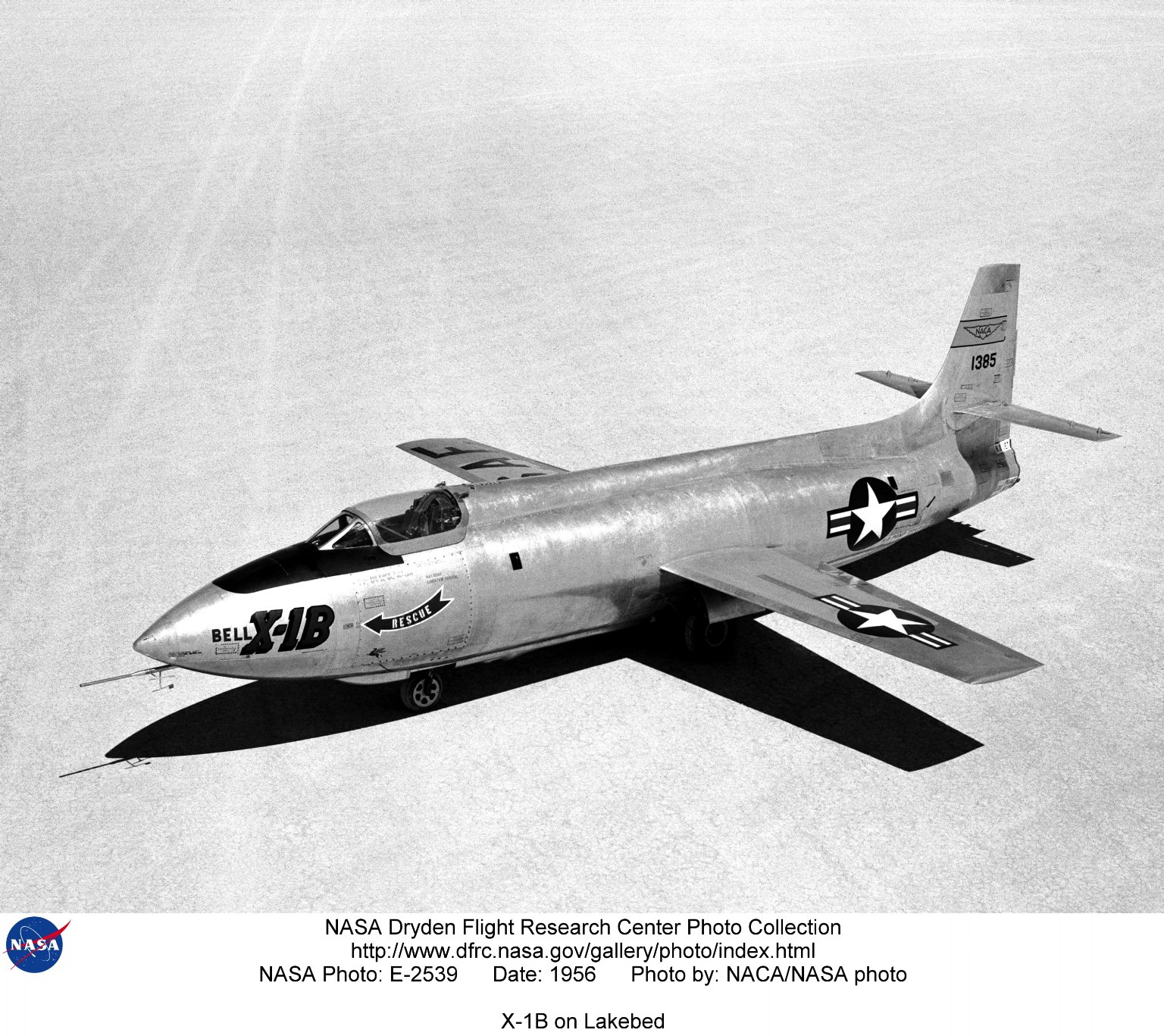 X-1B on Lakebed