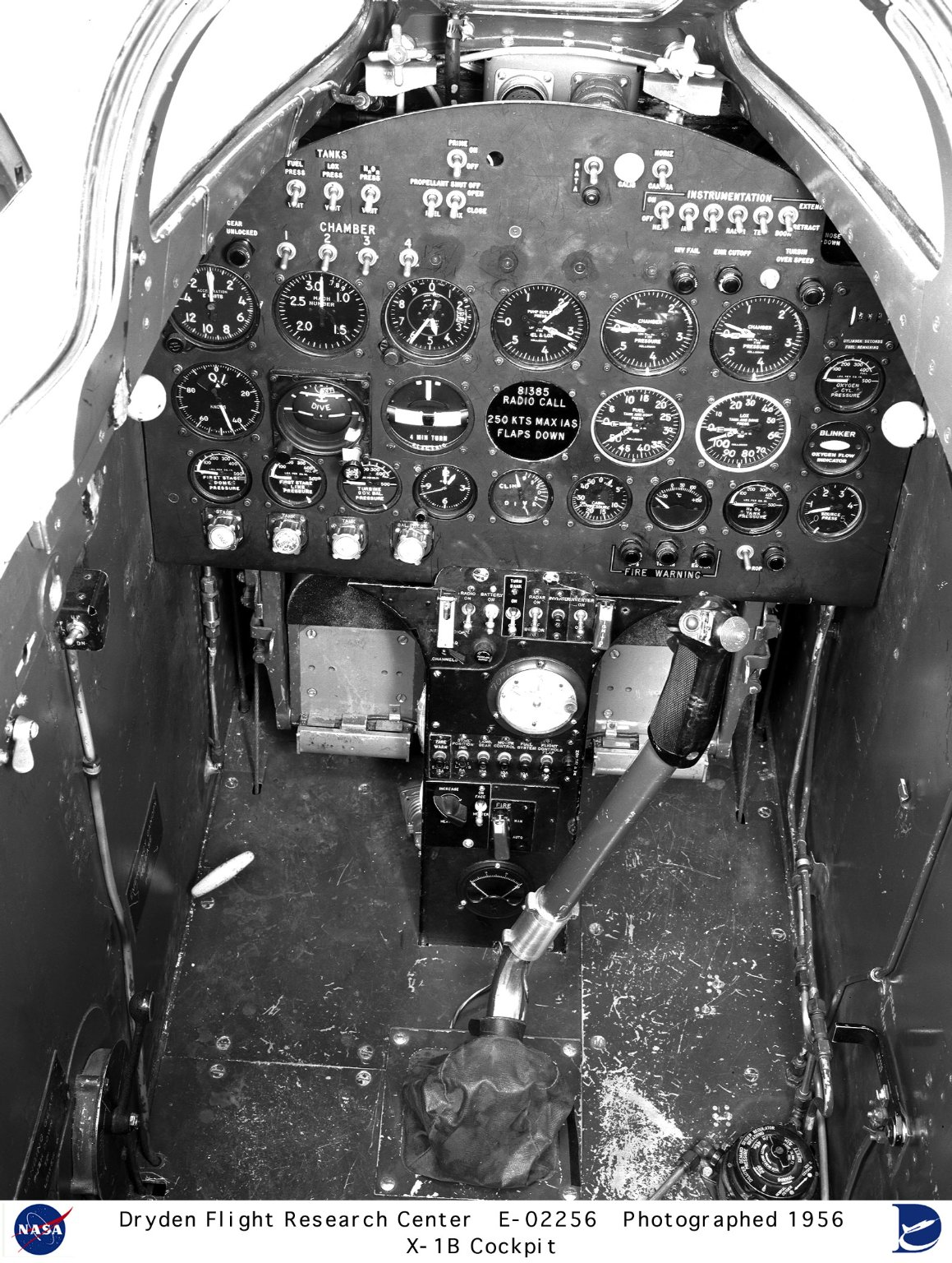 X-1B Aircraft Cockpit and Instrument Panel