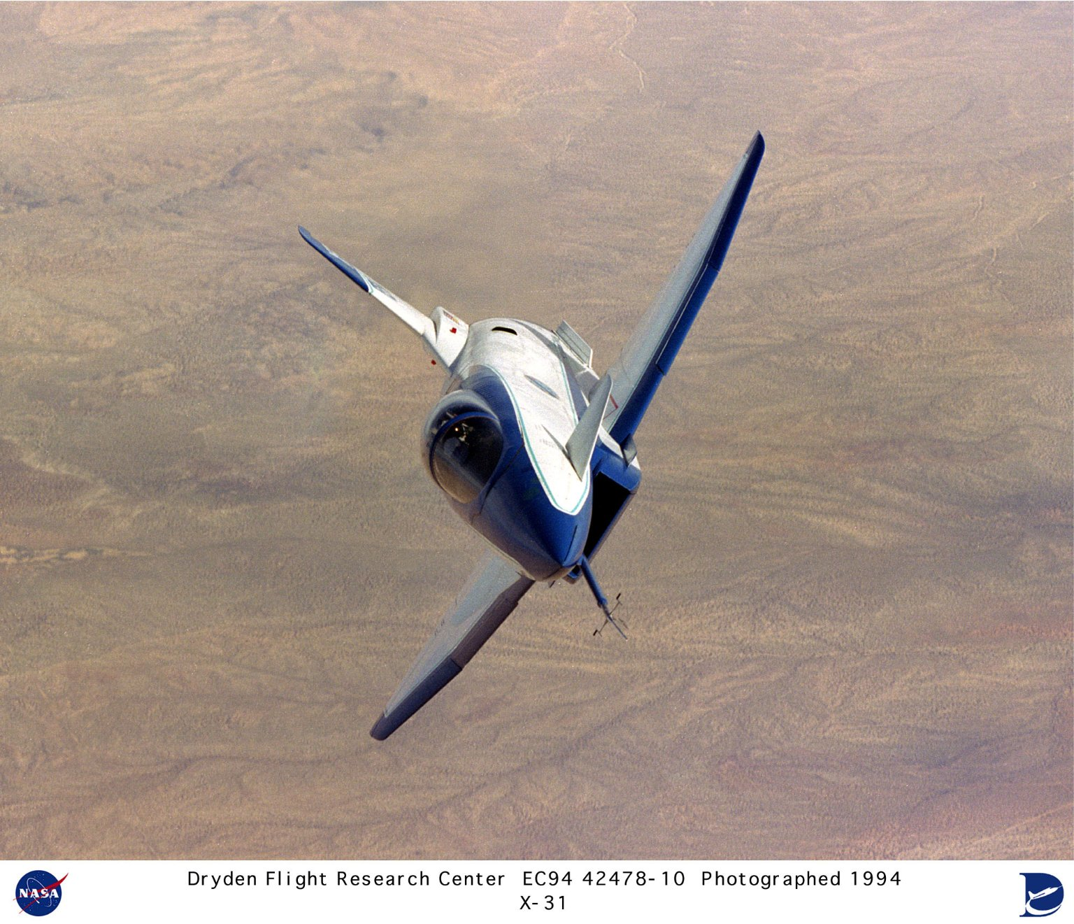 X-31 in Flight over Edwards AFB