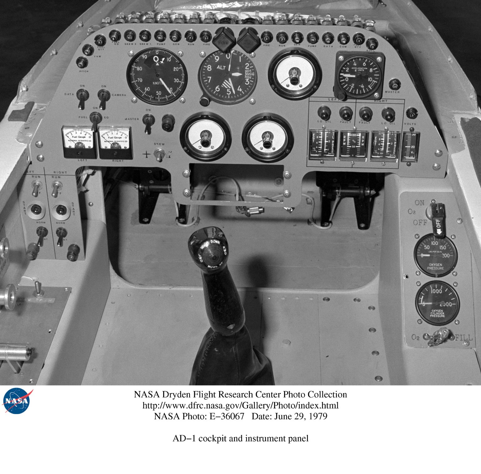 AD-1 cockpit and instrument panel